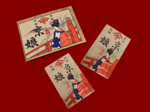 花札ラベル紙(「京娘」)