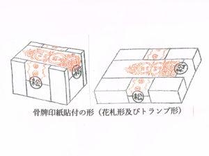 骨牌印紙貼付の形