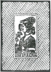 インフェレール社のカルタの裏紙