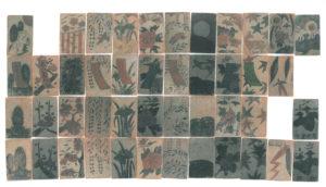 抑留者手製の花札(モンゴル)