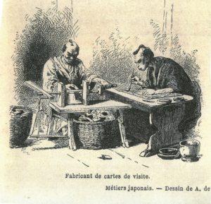 カルタ職人の作業