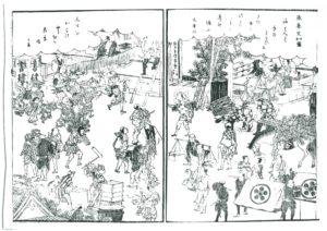師走の街頭風景(『東都歳事記』)