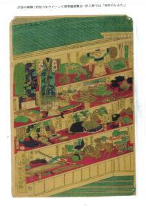 中国の紙牌(明治六年  ウィーン万博準備展覧会・  最上段中央「西洋のカルタ」)